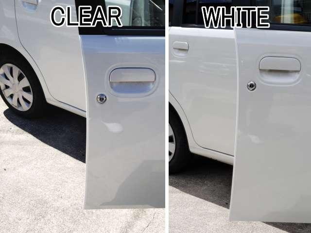 白と透明の比較